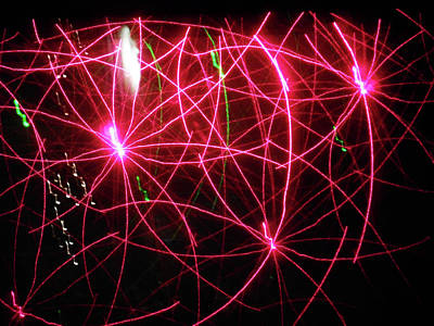 Photograph - Laser Lights 9 by Ron Kandt