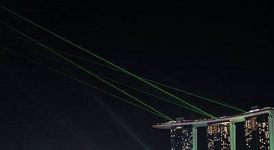 Photograph - Laser Lights And Stars by Jocelyn Kahawai