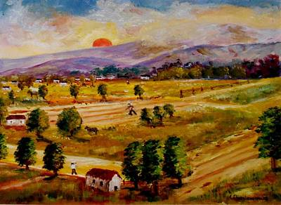 Painting - Lasithi Valley-greece by Constantinos Charalampopoulos