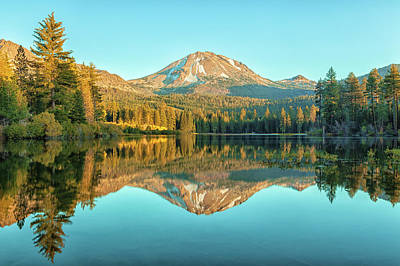 Photograph - Lassen And Its Reflection by Jonathan Nguyen