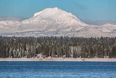 Photograph - Lassen On Christmas Morning by Jan Davies