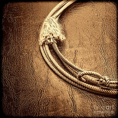 Photograph - Lasso On Leather by American West Legend By Olivier Le Queinec