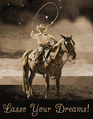 Lasso Your Dreams Art Print by Shannon Story