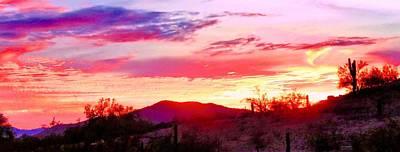 Photograph - Last Arizona Sunset 2017 - Panorama by Judy Kennedy