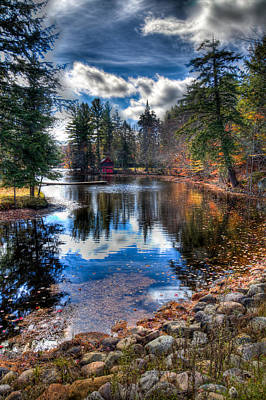 Photograph - Last Bit Of Fall Color At The Boathouse by David Patterson
