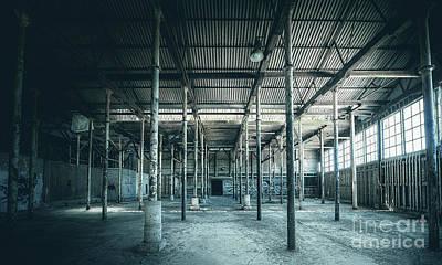 Creepy Mixed Media - Last Breath Of Abandoned Factory by Svetlana Sewell