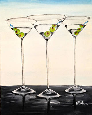 Martini Painting Royalty Free Images - Last Call Royalty-Free Image by Catherine  Carbone