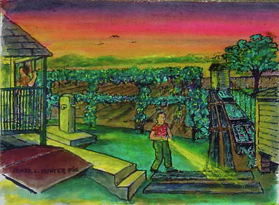 Painting - Last Call For The Toilet Sardinia Ohio by Frank Hunter