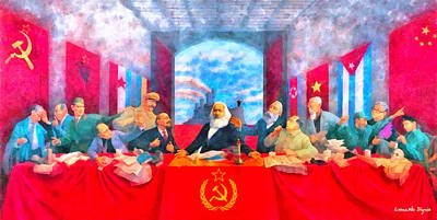 Soviet Union Digital Art - Last Communist Supper 20 - Da by Leonardo Digenio