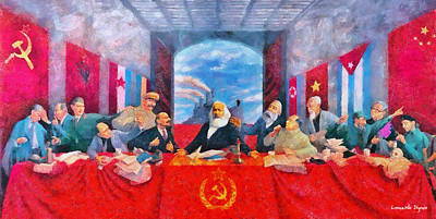 Social Digital Art - Last Communist Supper 30 - Pa by Leonardo Digenio