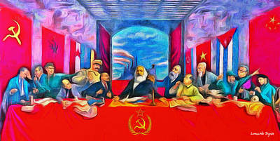 Soviet Union Painting - Last Communist Supper 40 - Pa by Leonardo Digenio
