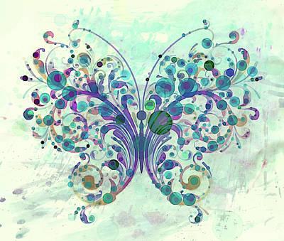 Whimsy Mixed Media - Last Dance Of A Butterfly by Georgiana Romanovna