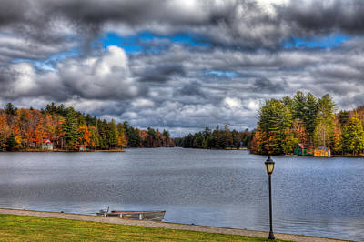 Autumn Landscape Photograph - Last Days Of Fall On Old Forge Pond by David Patterson
