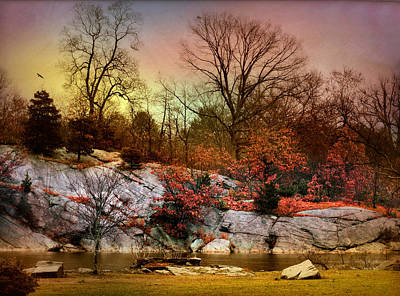 Last Fall Print by Diana Angstadt