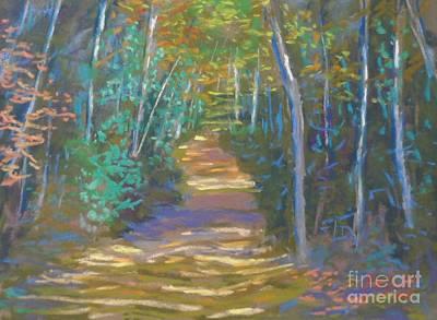 Pastel - Last Fall Walk  by Rae  Smith PAC