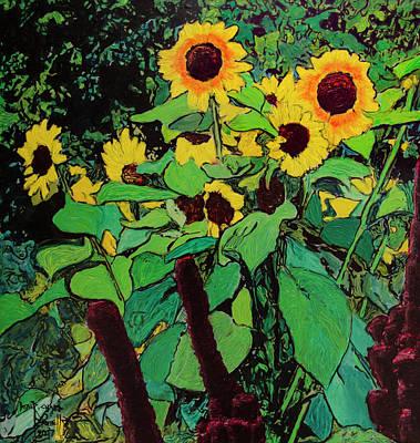 Painting - Last Garden 3 by Ron Richard Baviello