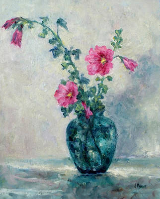 Painting - Last Hollyhocks by Jill Musser