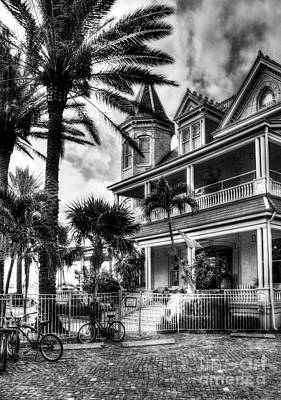 Photograph - Last House In Key West Bw by Mel Steinhauer