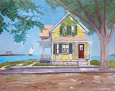 Painting - Last House Standing by Laurence Dahlmer