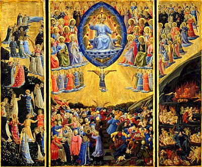 Judgment Painting - Last Judgment Winged Altar  by Fra Angelico