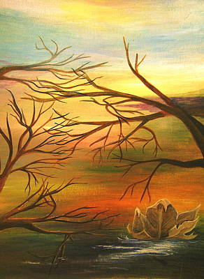 Last Leaf Of Fall Art Print by Vivian  Mosley