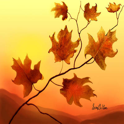Last Leaves Art Print
