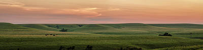 Photograph - Last Light Across The Prairie by Scott Bean