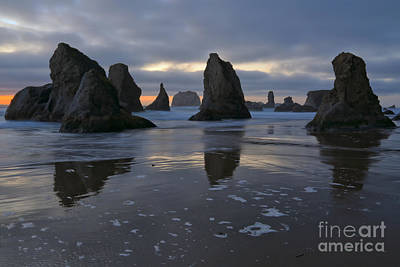 Photograph - Last Light At Bandon Beach by Adam Jewell