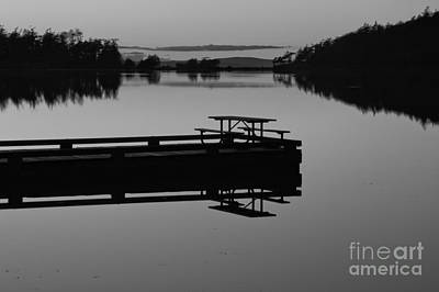 Photograph - Last Light At Cranberry Lake Black And Wite by Adam Jewell