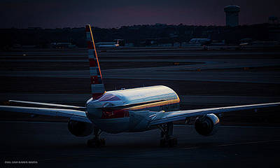Photograph - Last Light At Dfw by Philip Rispin