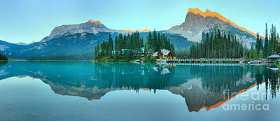 Photograph - Last Light At Emerald Lake Panorama by Adam Jewell