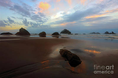 Photograph - Last Light At Face Rock by Mike Dawson