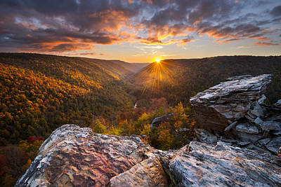 Sunburst Photograph - Last Light At Lindy Point by Joseph Rossbach