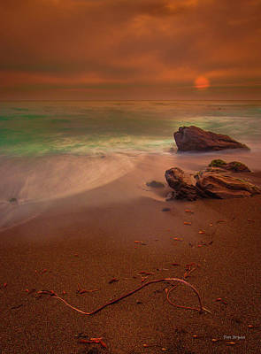 Photograph - Last Light At Low Tide by Tim Bryan