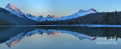 Photograph - Last Light At Maligne Lake by Adam Jewell