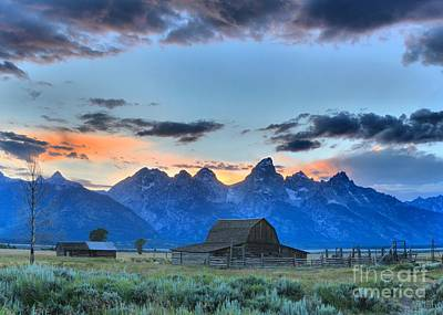 Photograph - Last Light At Mormon Row by Adam Jewell