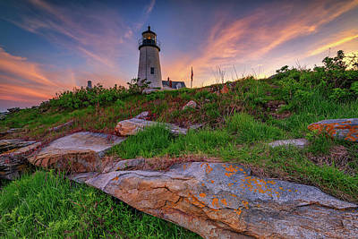 Photograph - Last Light At Pemaquid Point by Rick Berk