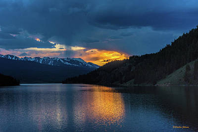Photograph - Last Light At Summit Cove by Stephen Johnson