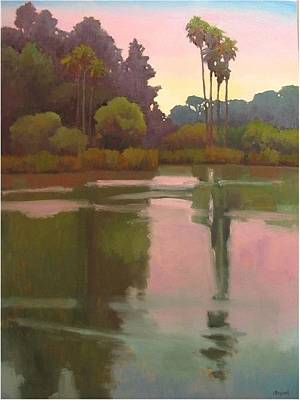 Last Light At The Bird Sanctuary Art Print by Jennifer Boswell