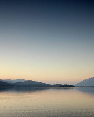 Photograph - Last Light, Derwentwater, England by David Stanley