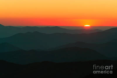 Photograph - Last Light From Clingmans Dome by Clarence Holmes