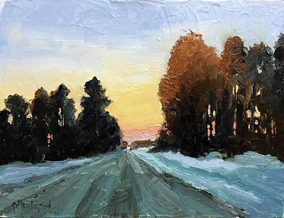 Painting - Last Light by Gilles Lafond