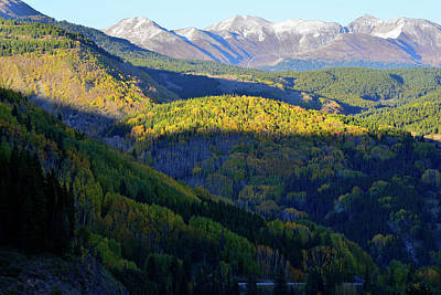 Photograph - Last Light High Above Silverton To Durango Highway by Ray Mathis