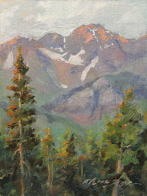 San Juan Mountains Painting - Last Light In Mountain Village Plein Air by Anna Rose Bain