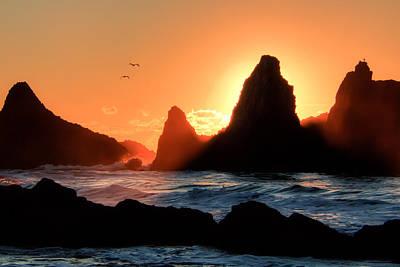 Coastal Landscape Photograph - Last Light 0090 by Kristina Rinell