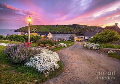 Photograph - Last Light Monhegan Island by Benjamin Williamson