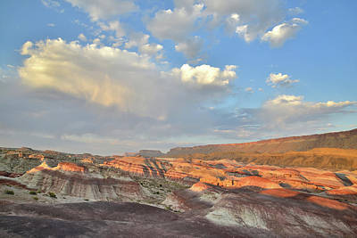 Photograph - Last Light On Bentonite Dunes In Caineville Wash by Ray Mathis