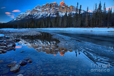 Photograph - Last Light On Castle Mountain by Adam Jewell