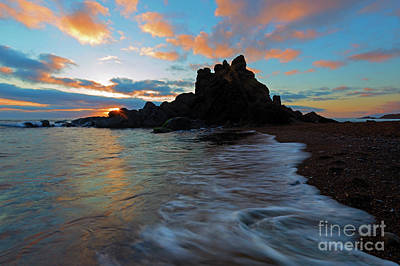 Photograph - Last Light On Fogarty Beach by Mike Dawson