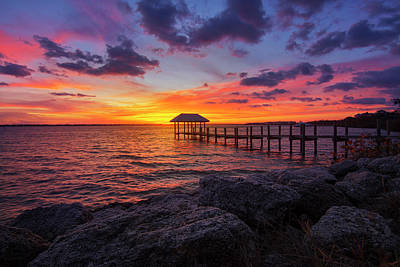 Photograph - Last Light On Hutchinson Island by Justin Kelefas